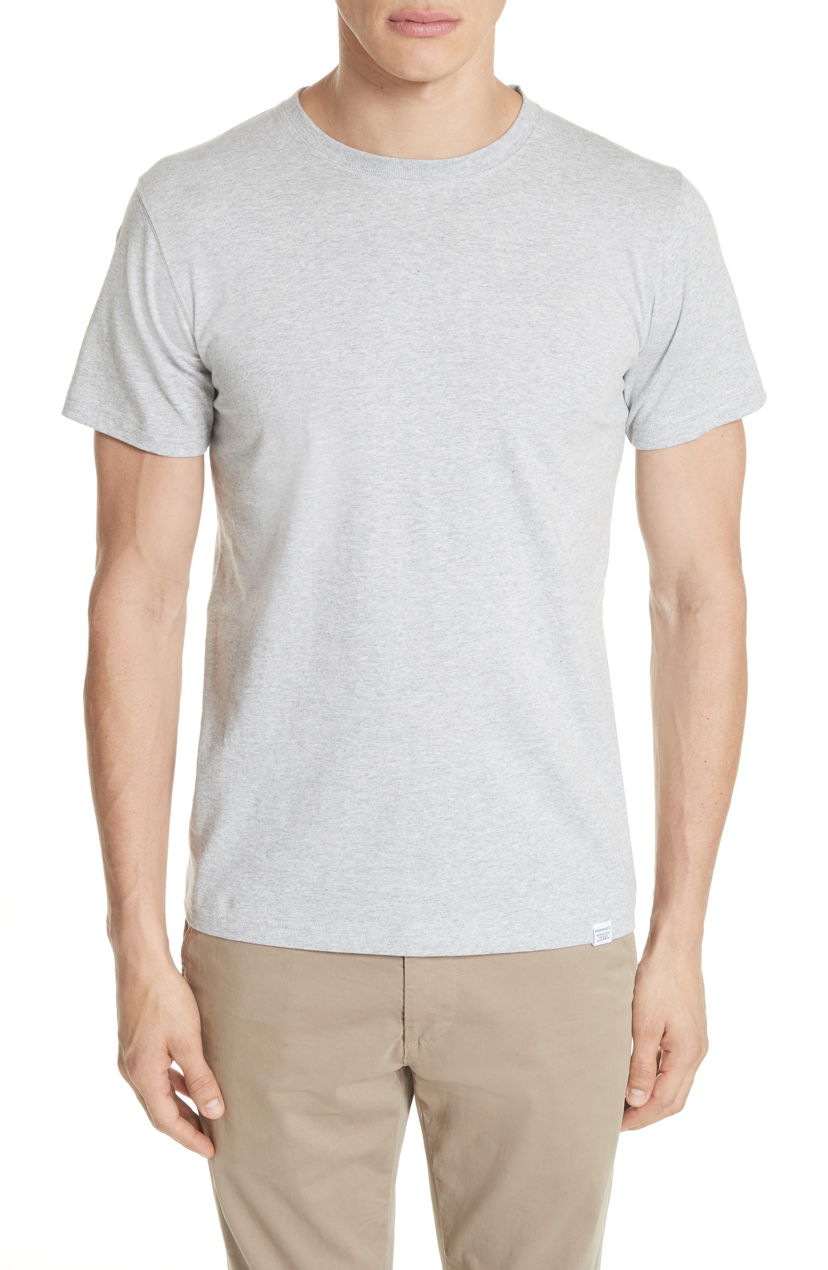 Niels Crewneck T-Shirt, Main, color, LIGHT GREY MELANGE