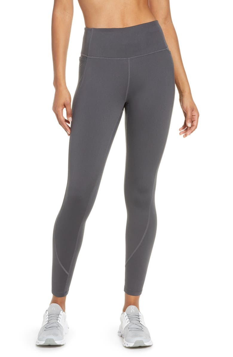 ZELLA Cozy Winter High Waist Ankle Leggings, Main, color, GREY FORGED