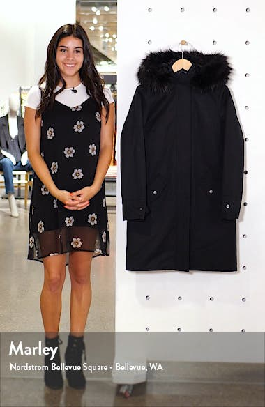 Bute Hooded Raincoat with Faux Fur Trim, sales video thumbnail
