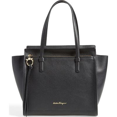 Salvatore Ferragamo Medium Amy Calfskin Leather Tote -