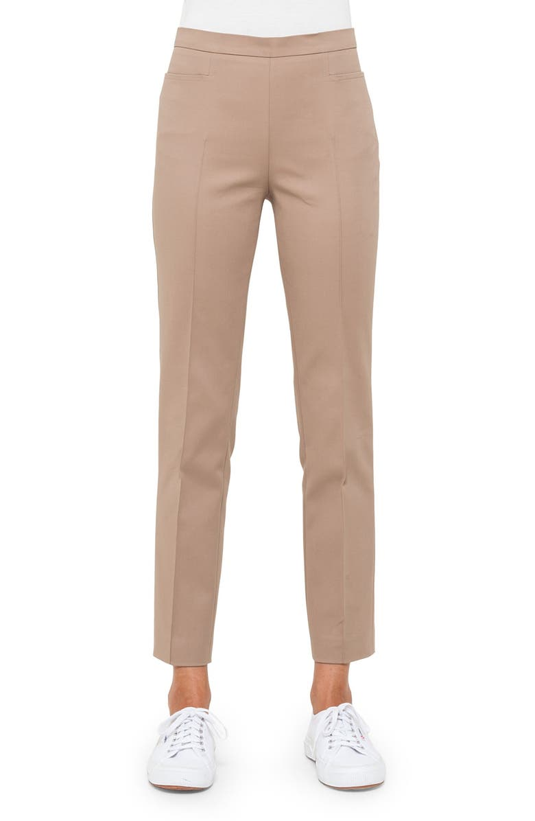 AKRIS PUNTO 'Franca' Techno Cotton Pants, Main, color, CORD