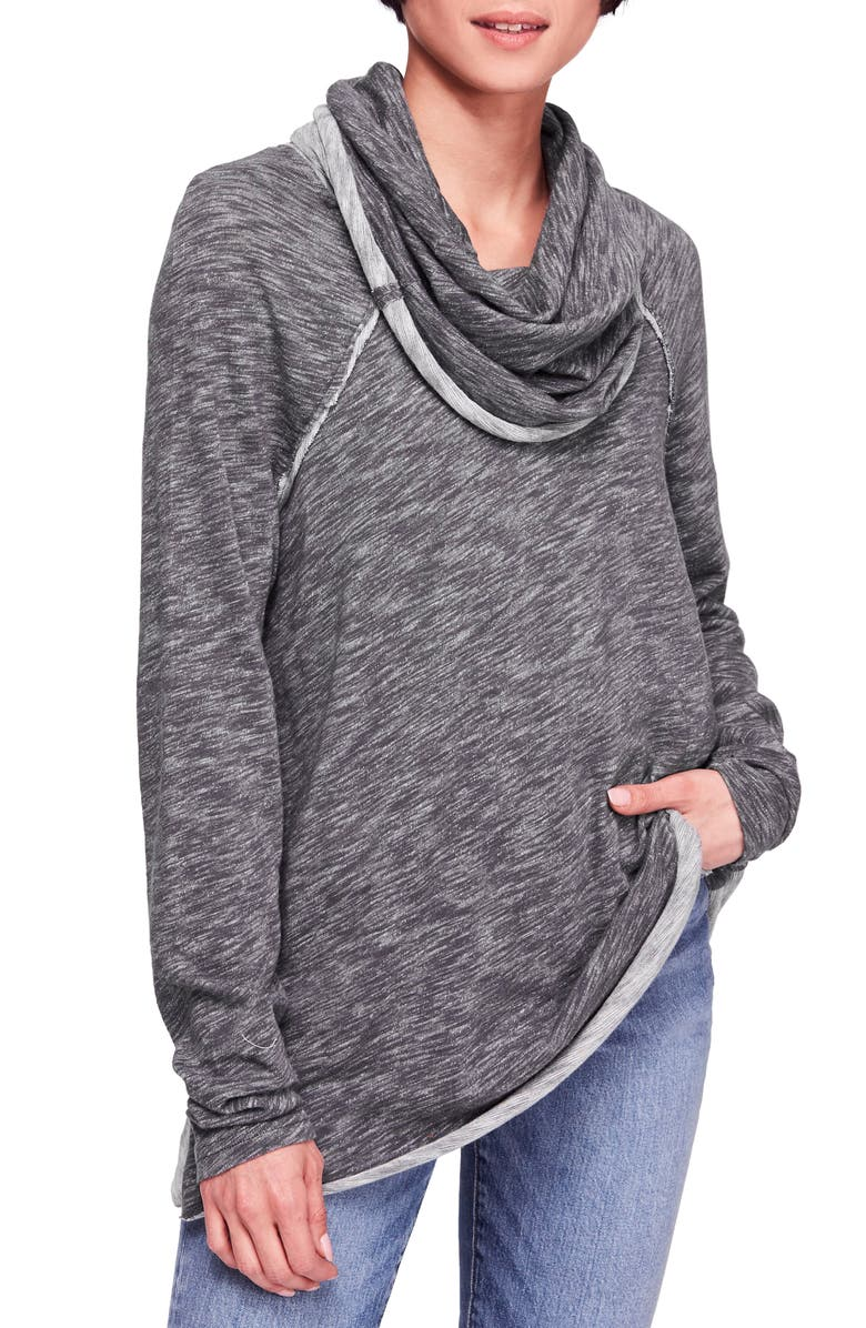 FREE PEOPLE Cocoon Cowl Neck Top, Main, color, 011