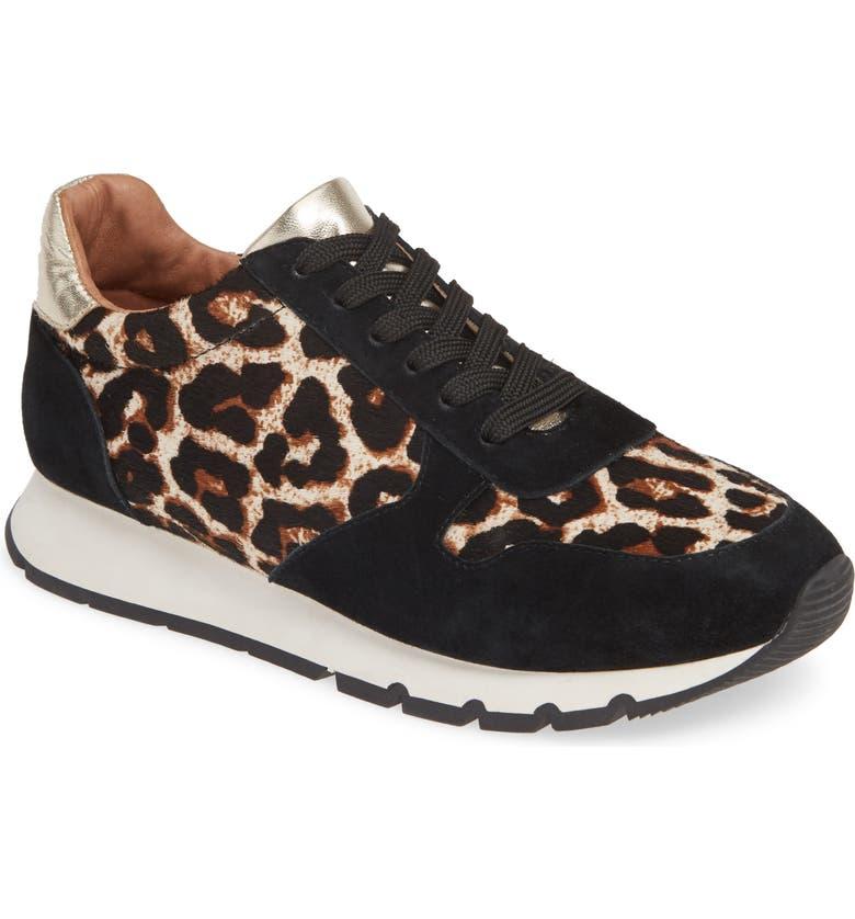 CASLON<SUP>®</SUP> Tripp Sneaker, Main, color, BLACK SUEDE/ LEOPARD PRINTED