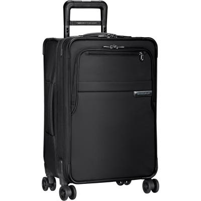 Briggs & Riley Baseline Domestic 22-Inch Expandable Rolling Carry-On - Black