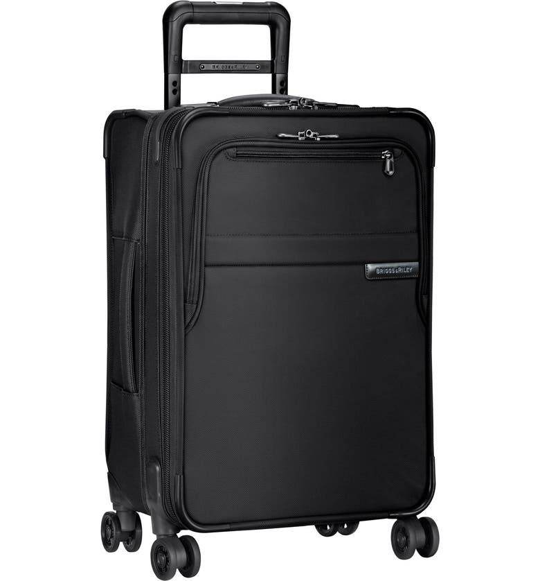 BRIGGS & RILEY Baseline 22-Inch Expandable Spinner Carry-On, Main, color, BLACK