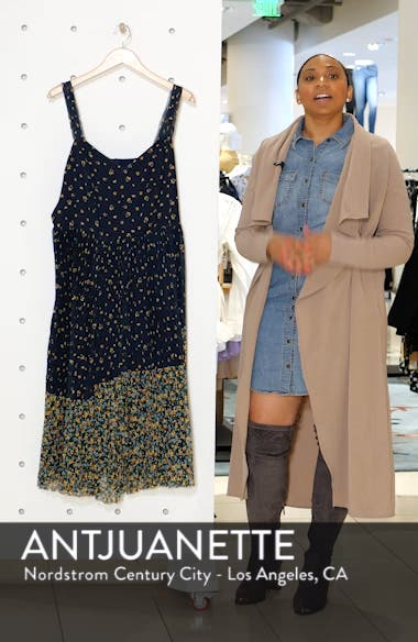 Jason Wu x ELOQUII Floral Print Pleated Midi Dress, sales video thumbnail