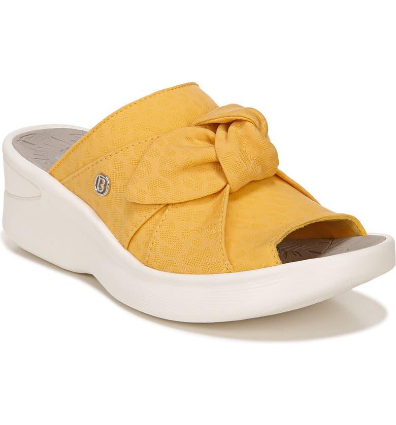 BZEES Smile Wedge Slide Sandal, Main, color, MIMOSA FABRIC