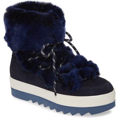 Cougar Vivian Limited Edition Genuine Rabbit Fur Boot, Blue