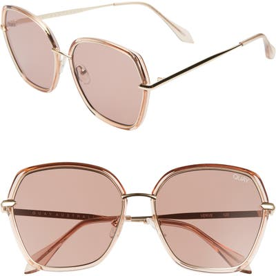 Quay Australia Verve Oversize Sunglasses - Light Brown/ Brown