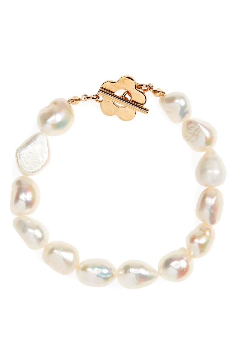 WOLF CIRCUS Lola Freshwater Pearl Bracelet, Main, color, GOLD