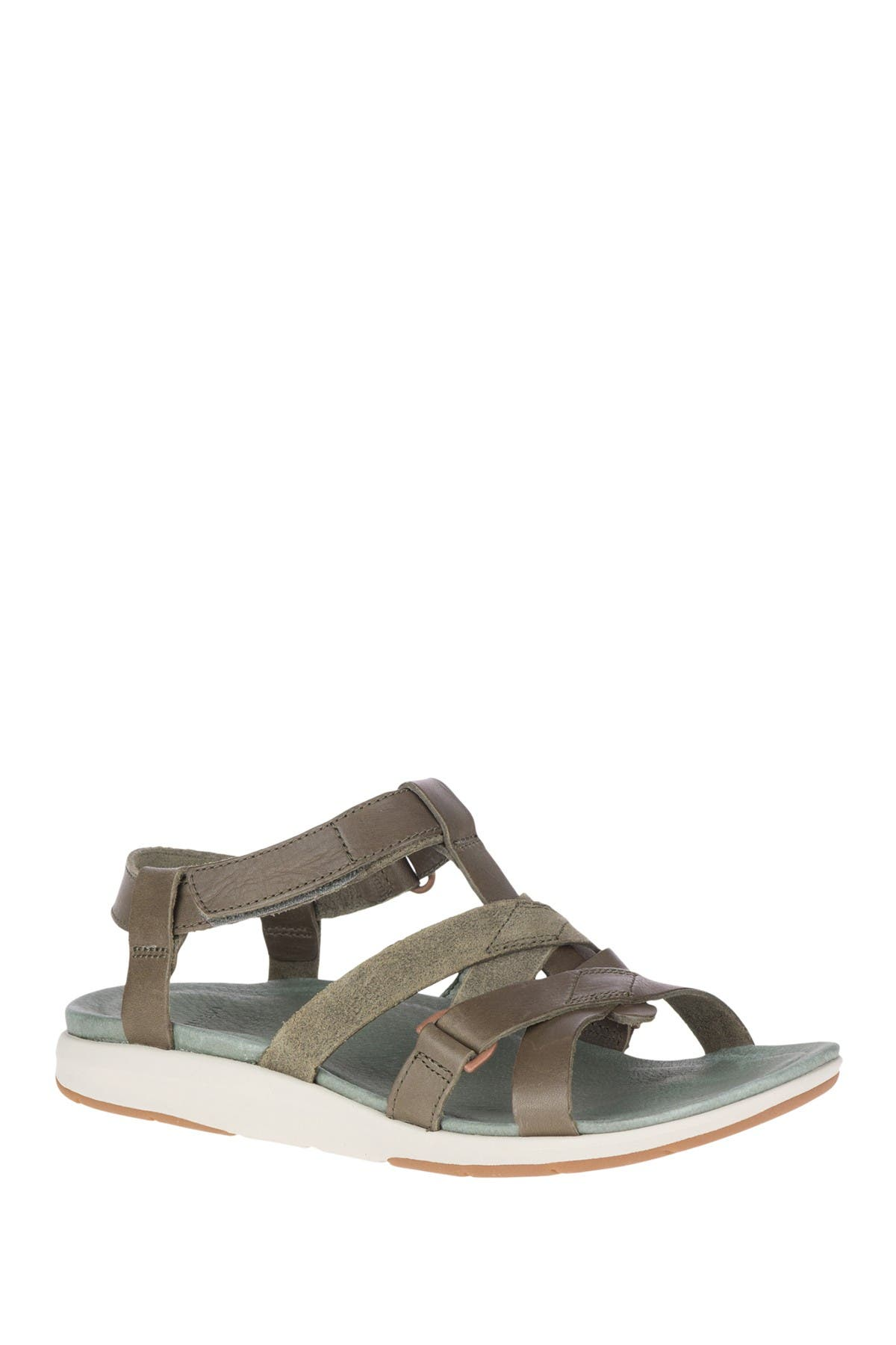 Image of Merrell Kalari Shaw Strappy Leather Sandal