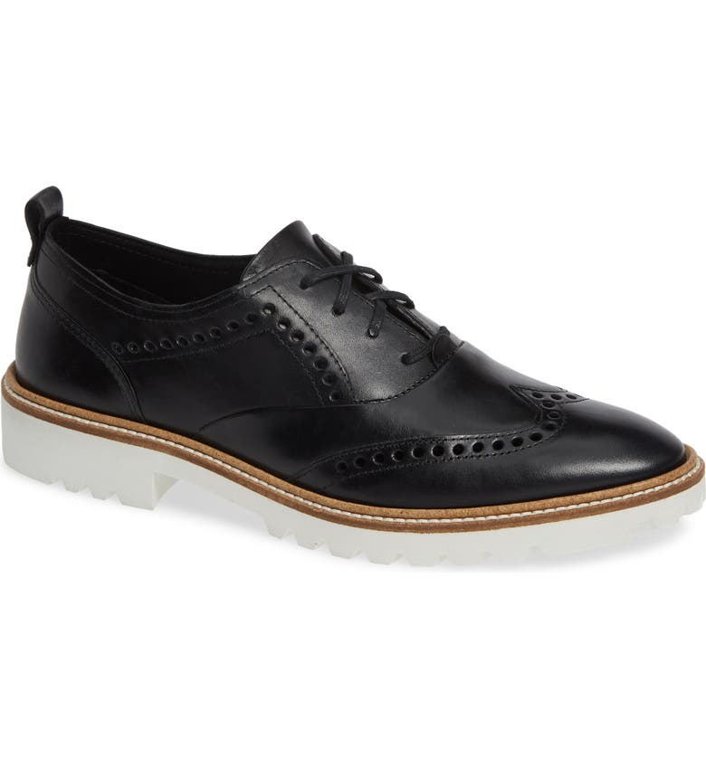 ECCO Incise Tailored Wingtip Oxford, Main, color, 001