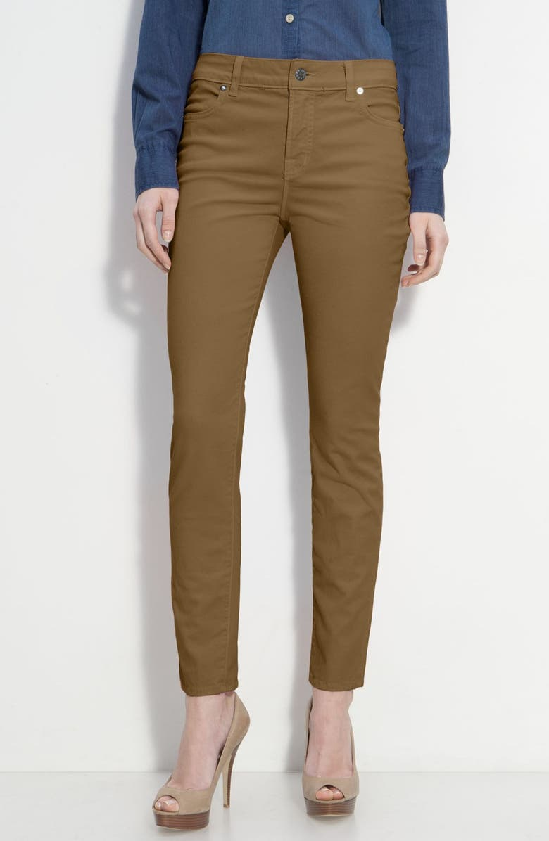 BLUE ESSENCE Skinny Twill Ankle Jeans, Main, color, 000
