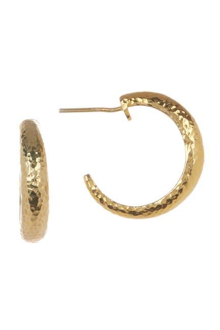 Image of Gurhan Hammered 24K Gold Vermeil 20mm Open Hoop Earrings