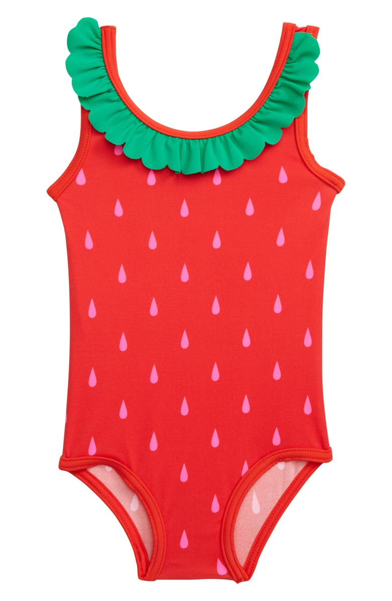 57af95a4f4 Mini Boden Ruffle One-Piece Swimsuit (Baby & Toddler Girls)   Nordstrom