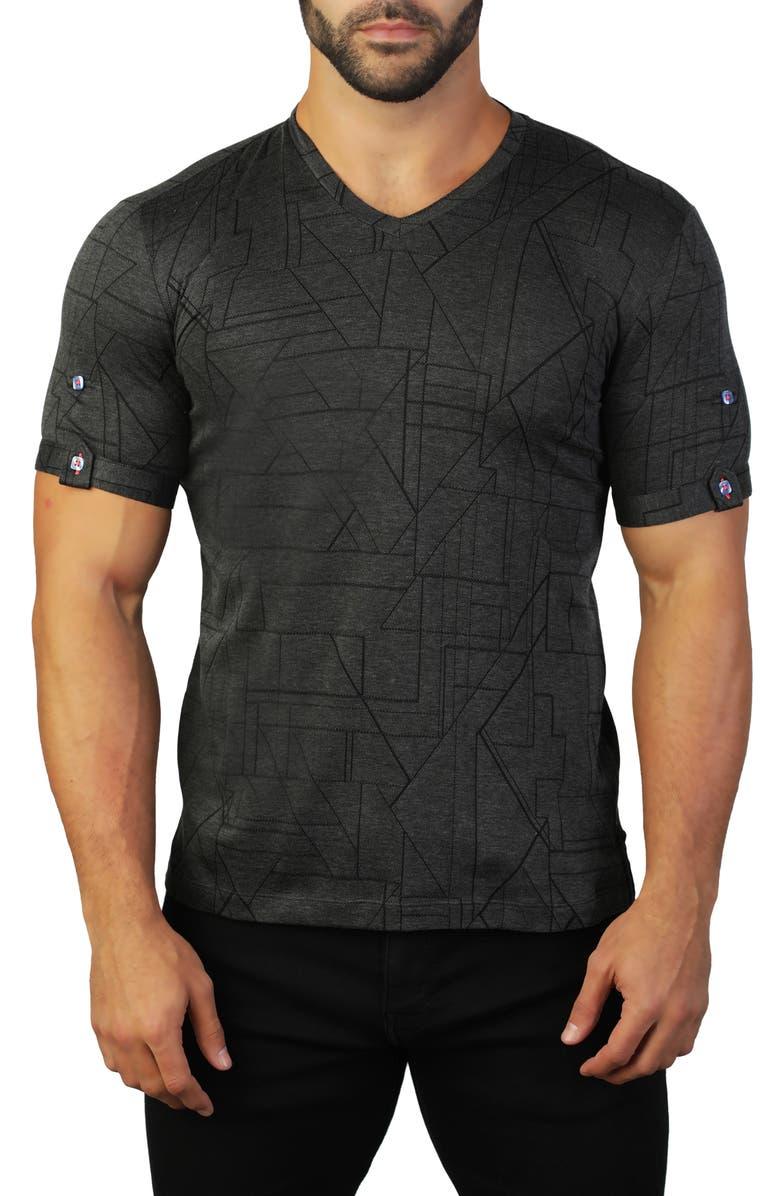 MACEOO Vivalditrigo V-Neck T-Shirt, Main, color, 007