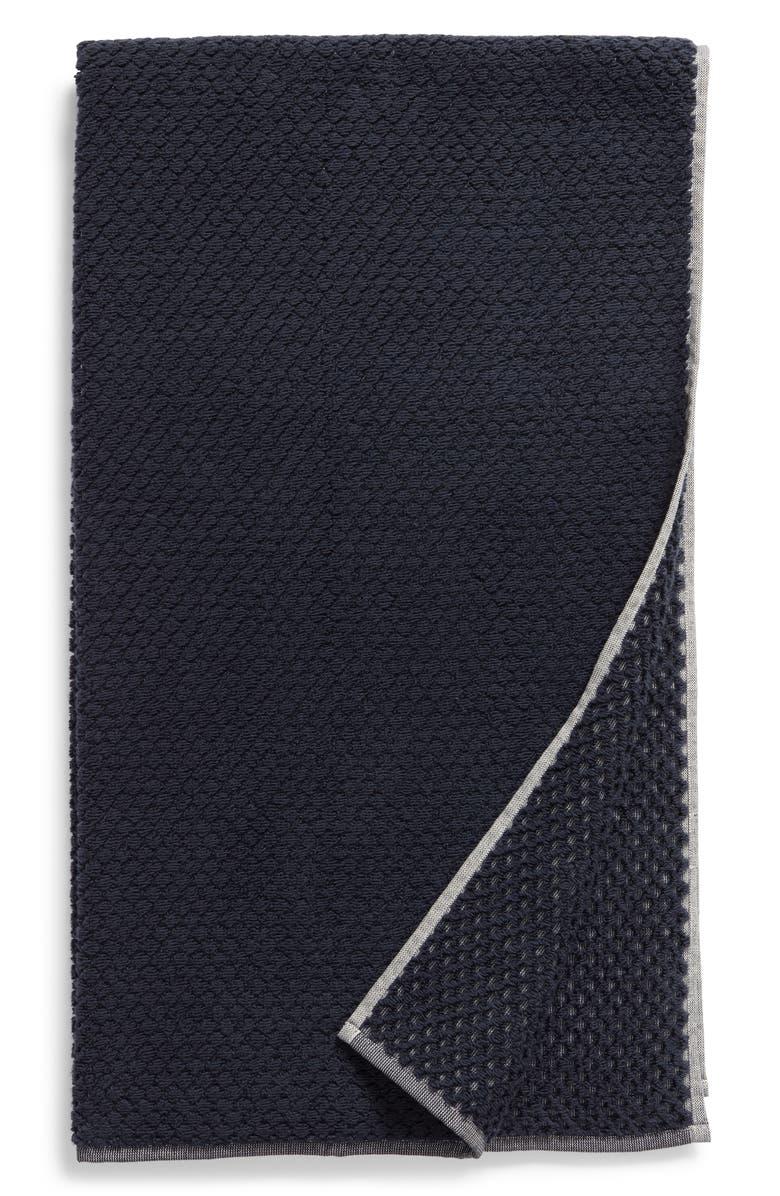 NORDSTROM Tessa Dot Bath Towel, Main, color, NAVY BLUE