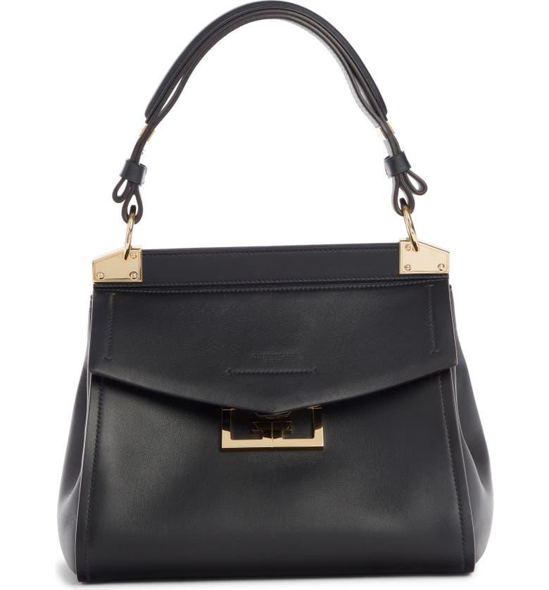 GIVENCHY Mini Mystic Calfskin Leather Satchel, Main, color, BLACK