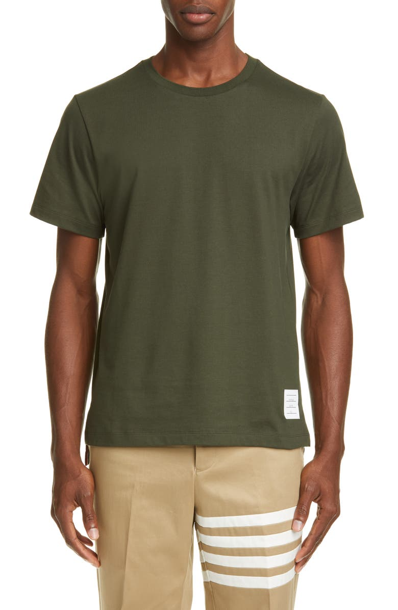 THOM BROWNE Relaxed Fit Crewneck T-Shirt, Main, color, GREEN