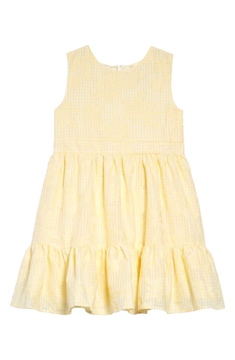 RACHEL PARCELL Floral Appliqué Sleeveless Dress, Main, color, 740
