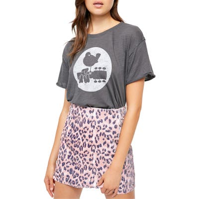 Free People Woodstock Clarity Cotton Blend Tee, Grey