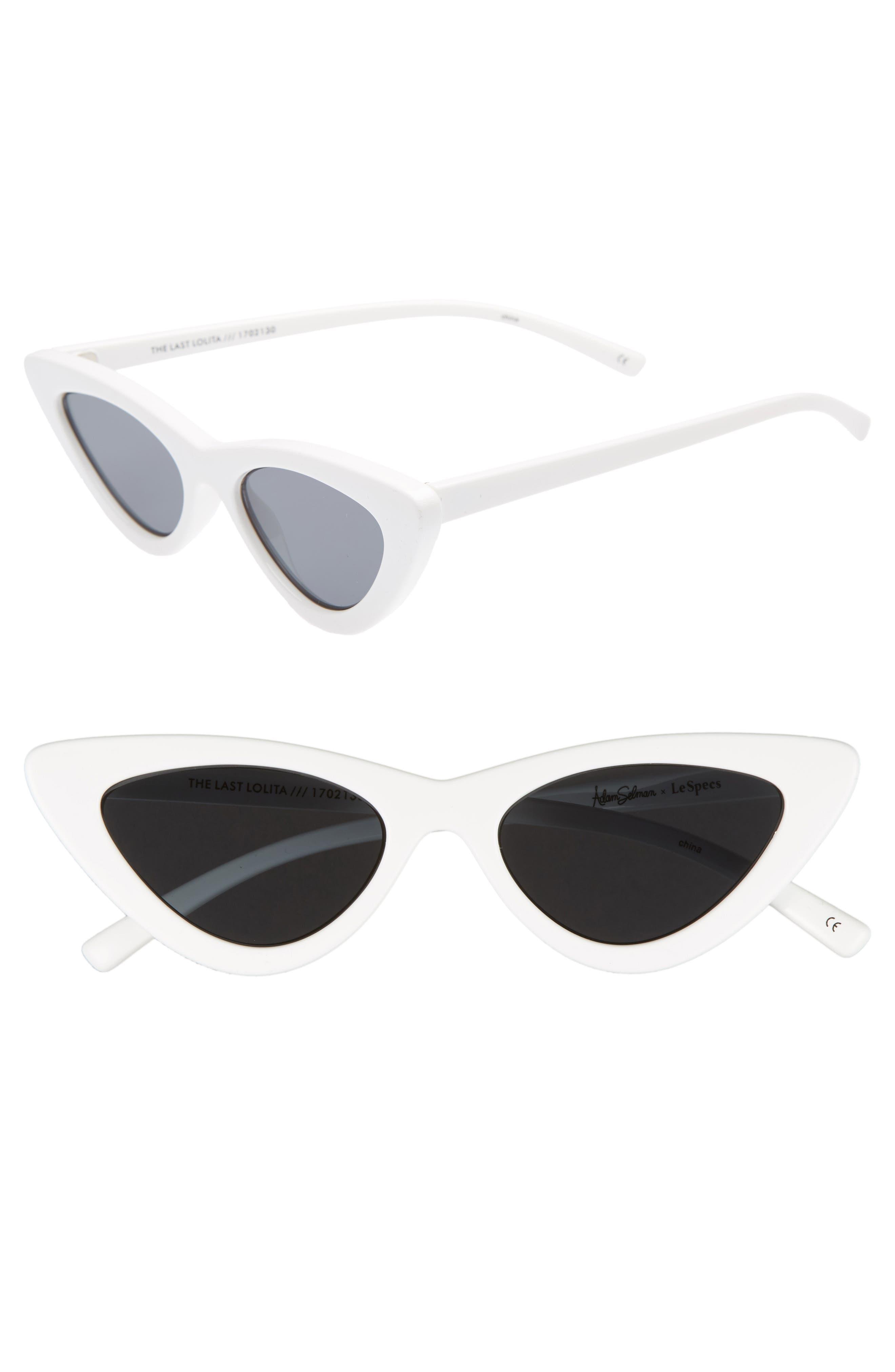 Adam Selman X Le Specs Luxe Lolita 4m Cat Eye Sunglasses - White