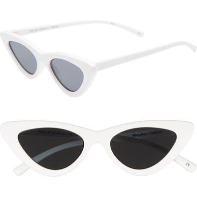 Adam Selman X Le Specs Luxe Lolita Cat Eye Sunglasses - White
