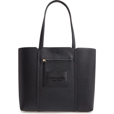 Kate Spade New York Large Shadow Leather Tote - Black