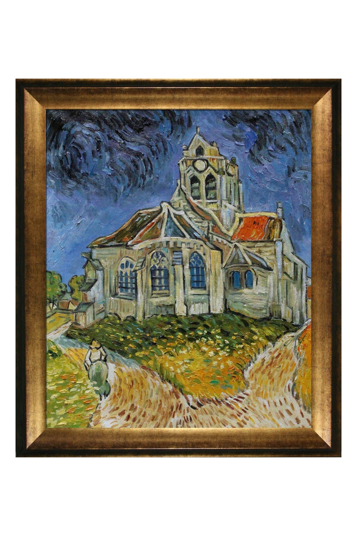 Overstock Art The Church at Auvers with Athenian Gold Frame, 25\\\