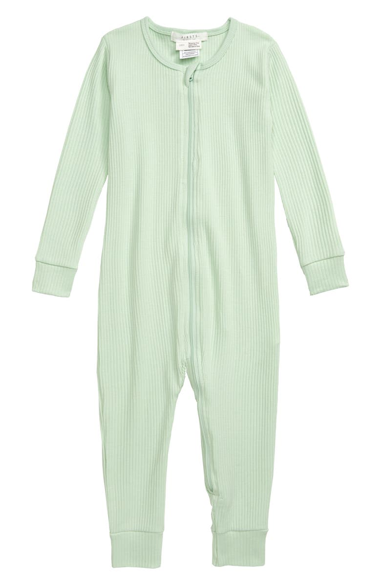 PETIT LEM Romper, Main, color, LIGHT GREEN