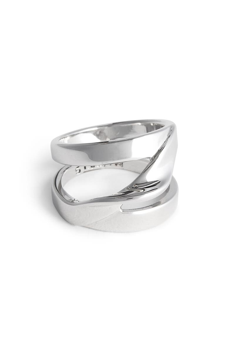 ST. JOHN COLLECTION Twist Metal Ring, Main, color, RHODIUM