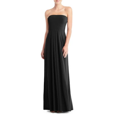 Dessy Collection Multi-Way Loop A-Line Gown, Black