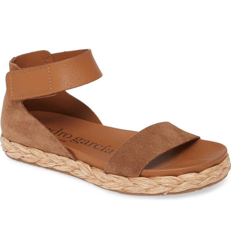 PEDRO GARCIA Jaida Ankle Strap Espadrille Sandal, Main, color, HAZELNUT COMBO