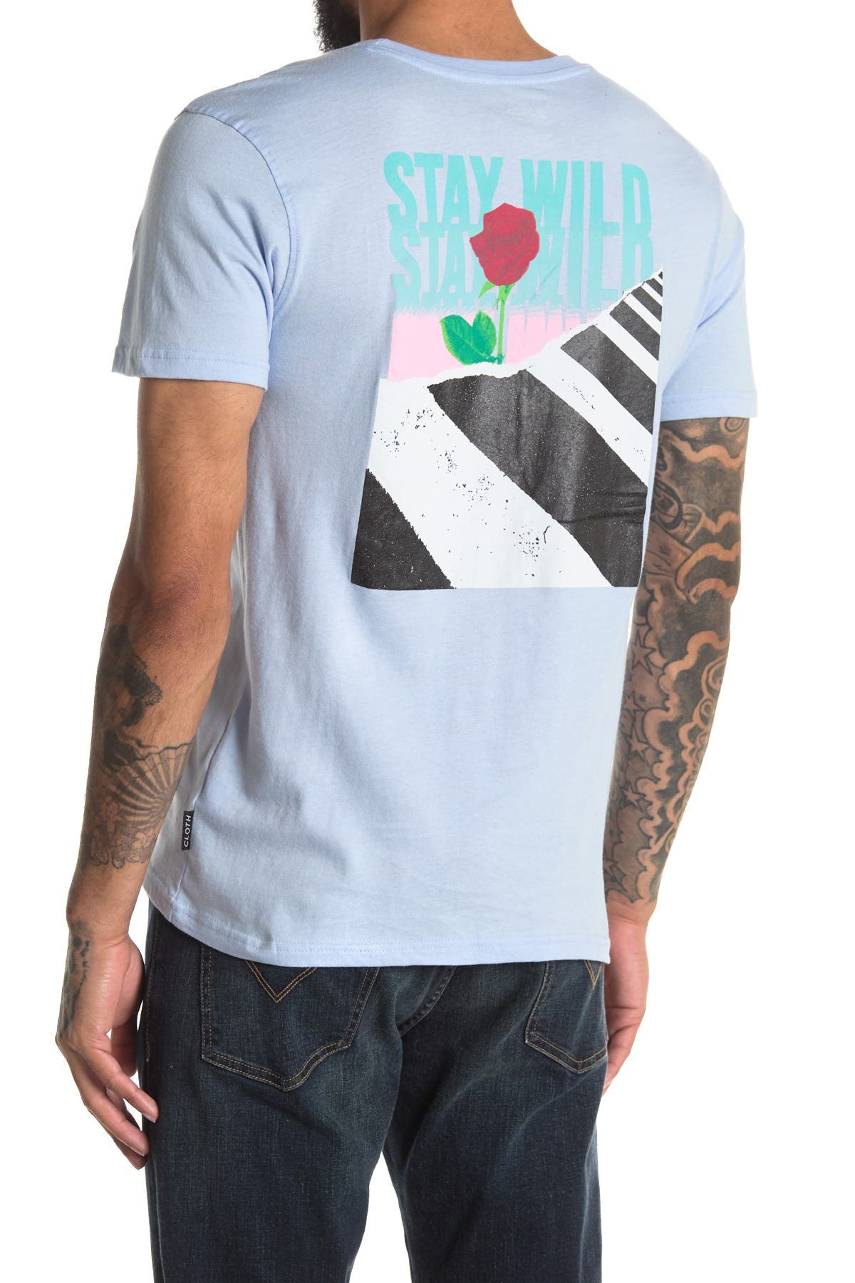 Image of The Narrows Stay Wild Crosswalk Tee