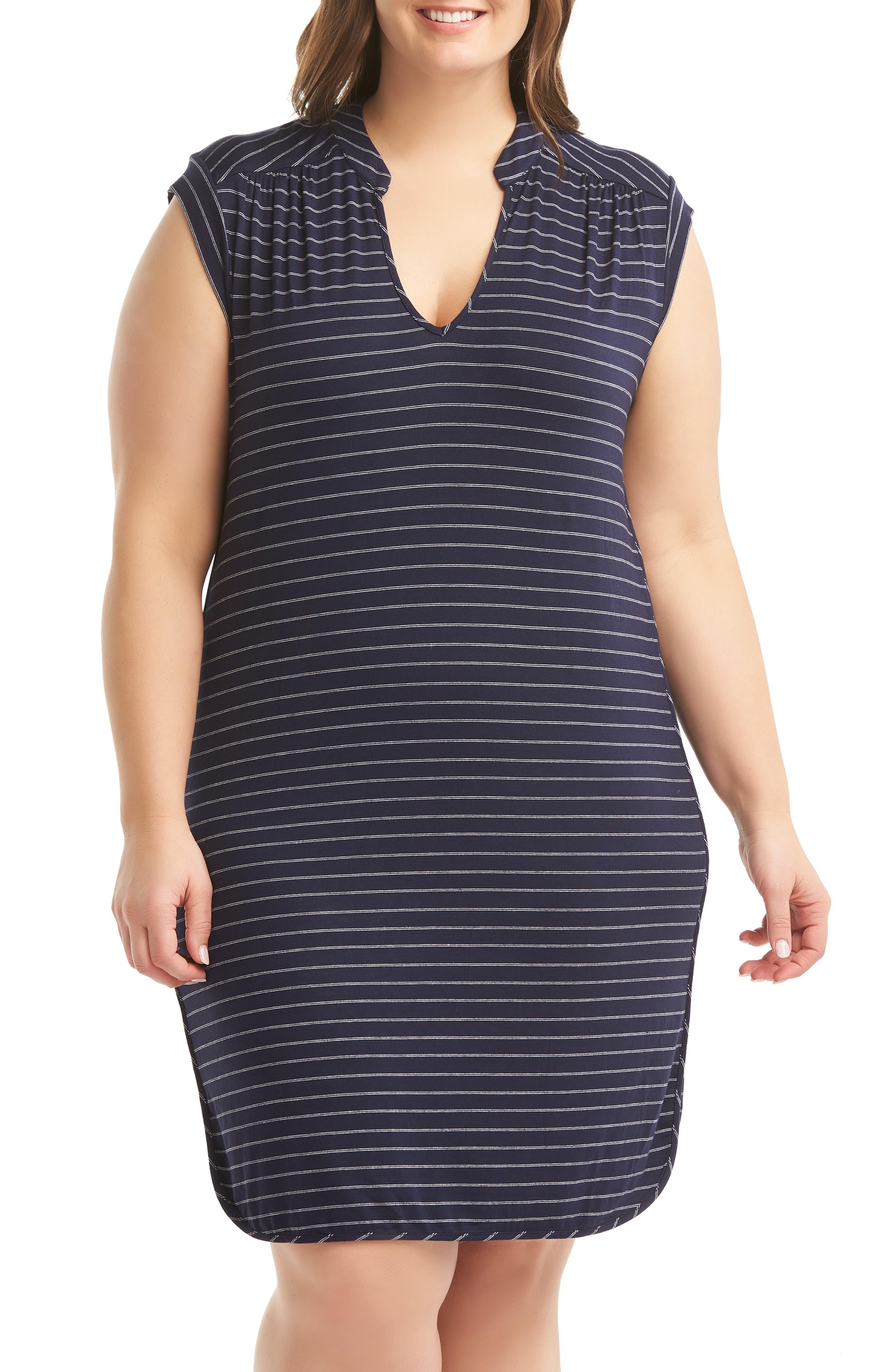 Plus Size Lemon Tart Mellie Shift Dress, Blue