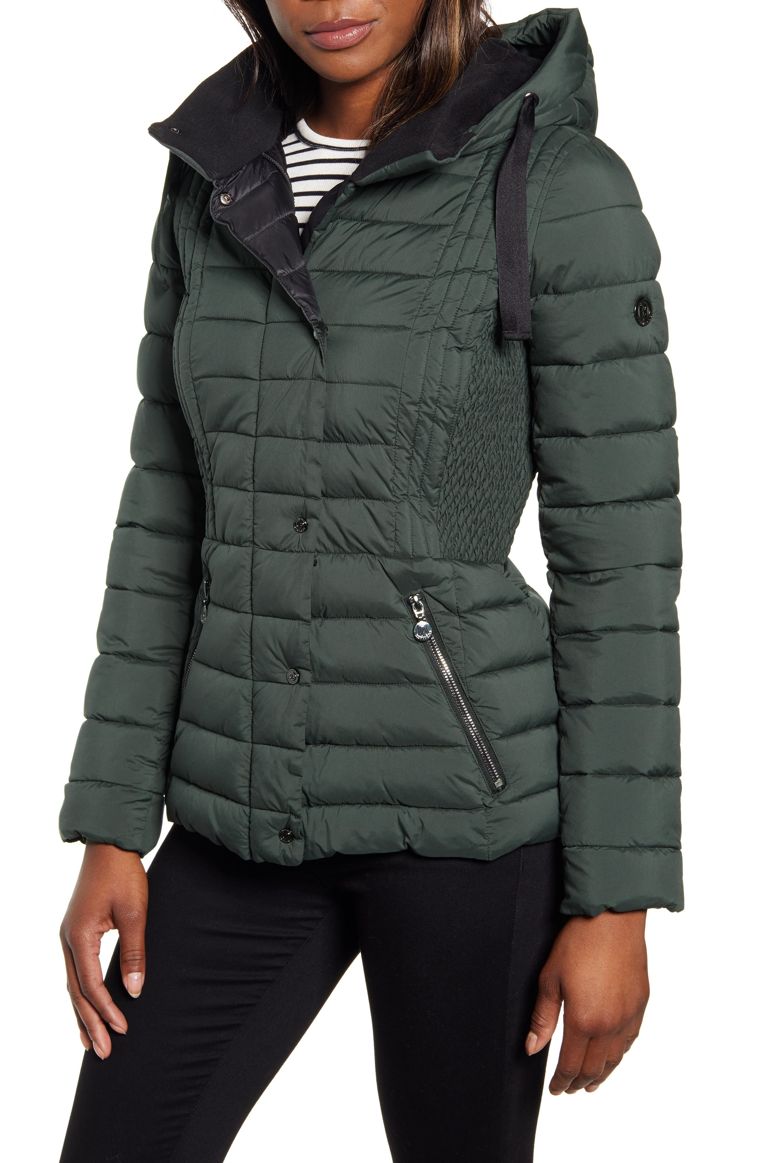 Bernardo Packable Water Resistant Puffer Jacket