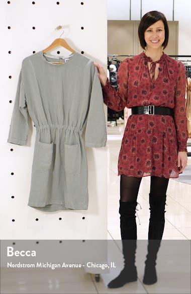 Lulyisa Long Sleeve Linen Blend Minidress, sales video thumbnail