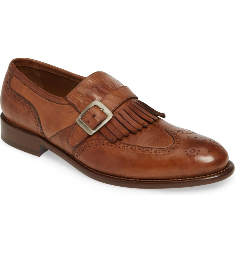 J&M 1850 Bryson Kiltie Loafer, Main, color, COGNAC LEATHER
