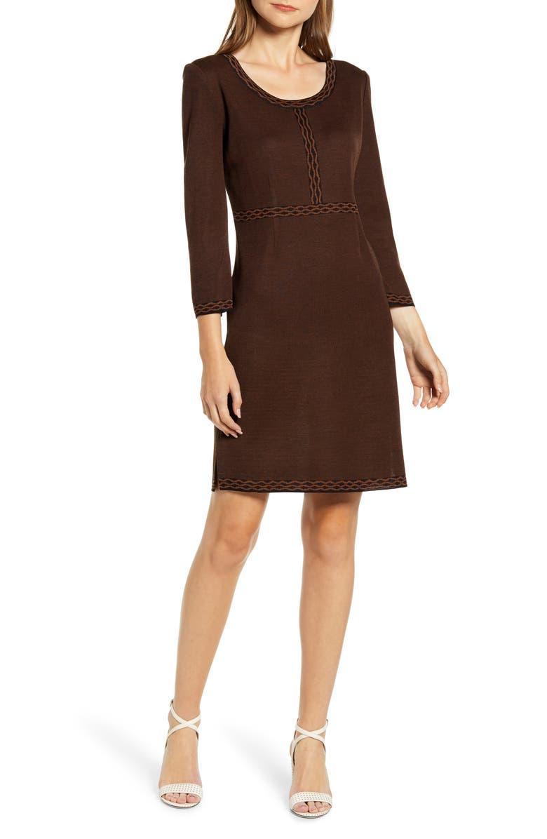 MING WANG Knit Sheath Dress, Main, color, 230