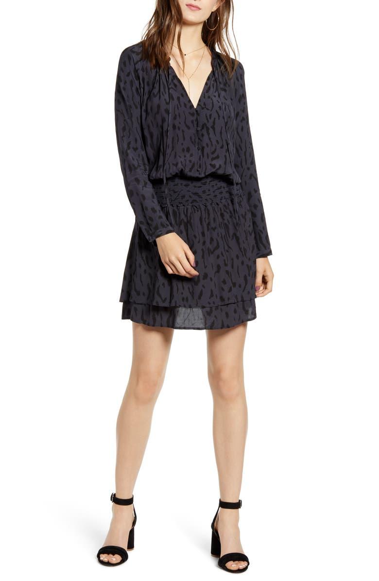 RAILS Jasmine Long Sleeve Dress, Main, color, ASH CHEETAH