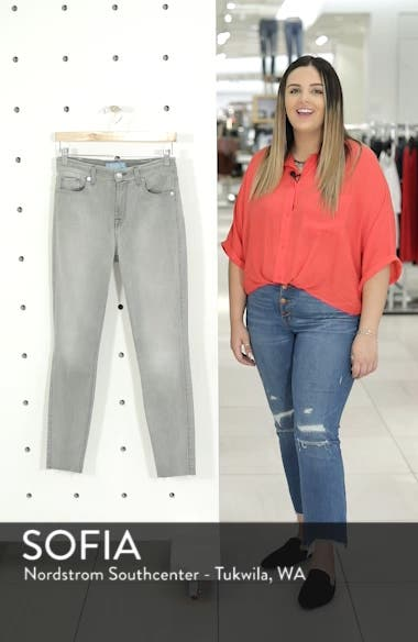 b(air) High Waist Raw Hem Ankle Skinny Jeans, sales video thumbnail