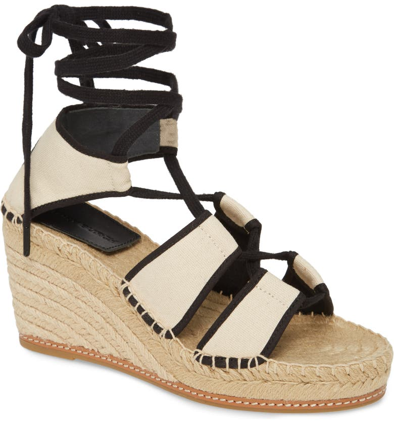 TORY BURCH Ankle Tie Wedge Espadrille, Main, color, 900
