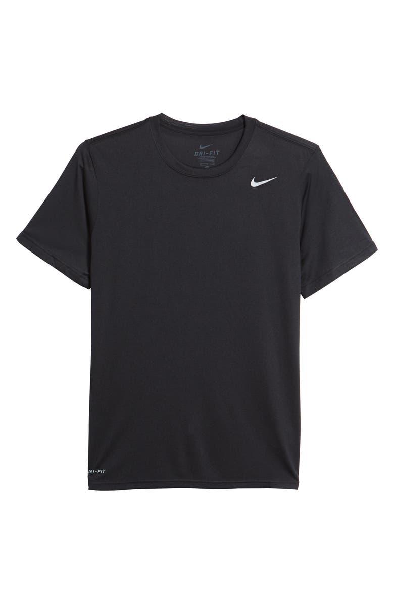 NIKE Legend 2.0 Dri-FIT Training T-Shirt, Main, color, BLACK/ BLACK/ MATTE SILVER