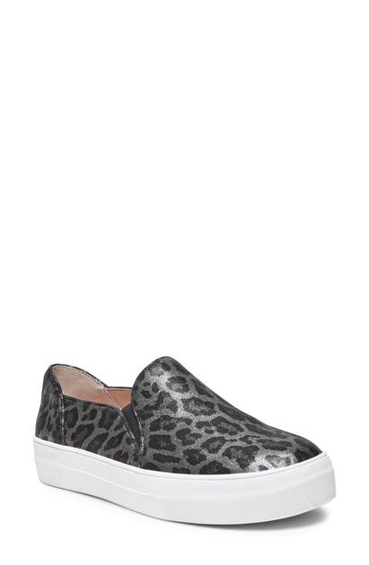 Kate Spade Ginger Platform Sneaker In Grey Metallic Leopard