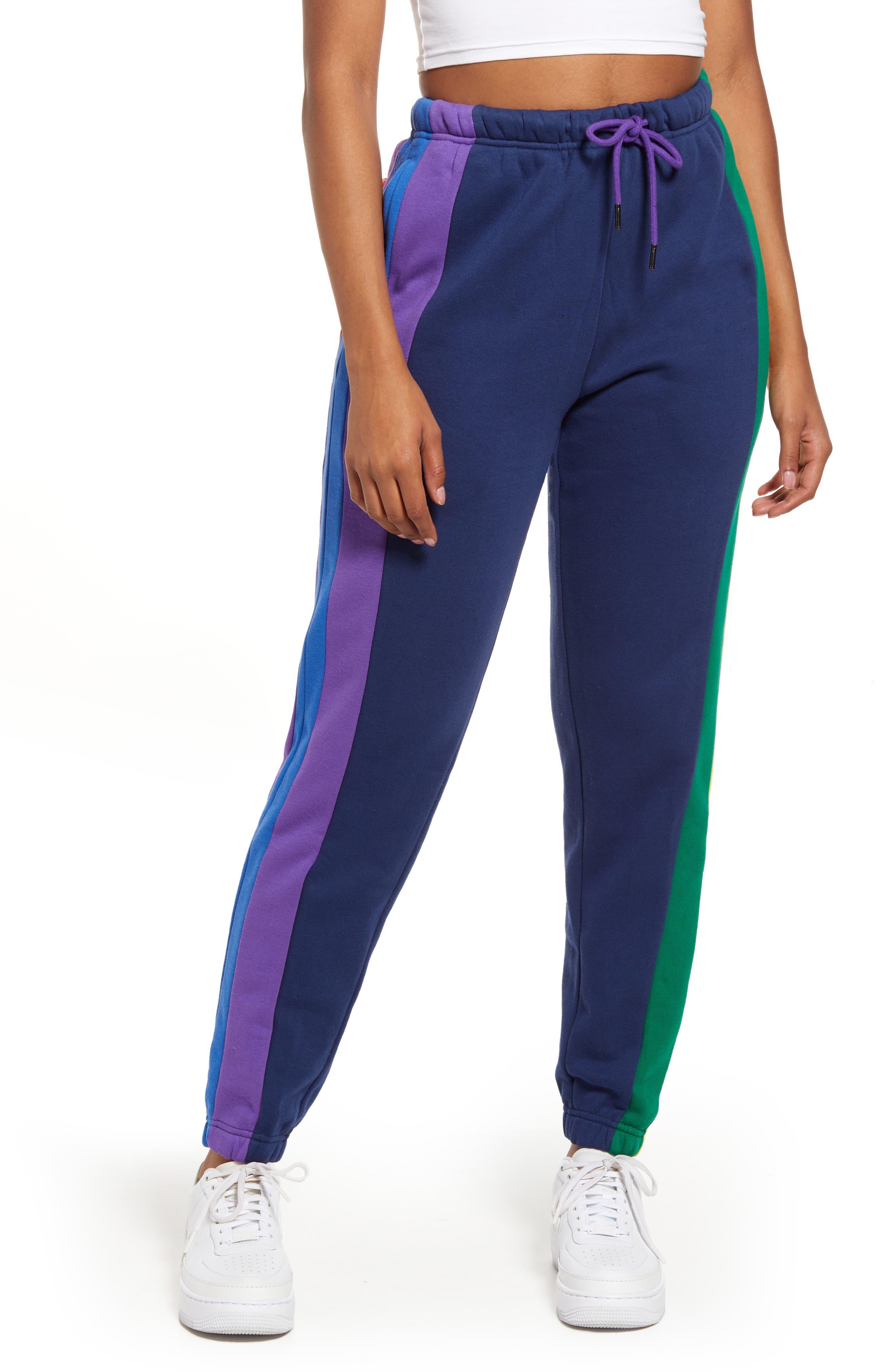 Women's Stripe Cotton Blend Track Pants