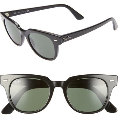 Ray-Ban Meteor 50Mm Wayfarer Sunglasses - Black Solid