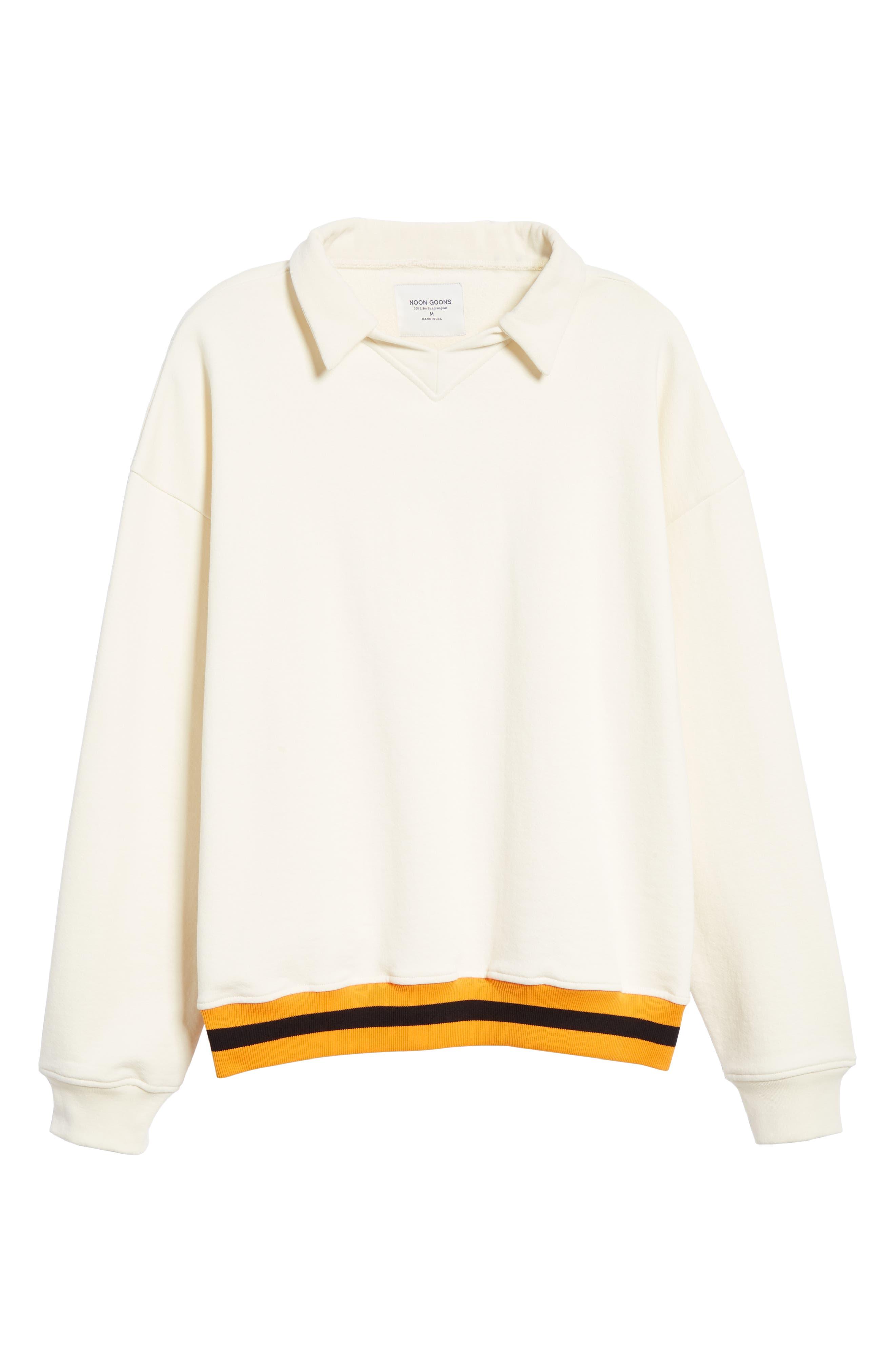 ,                             Study Sweatshirt Polo,                             Alternate thumbnail 6, color,                             CREAM
