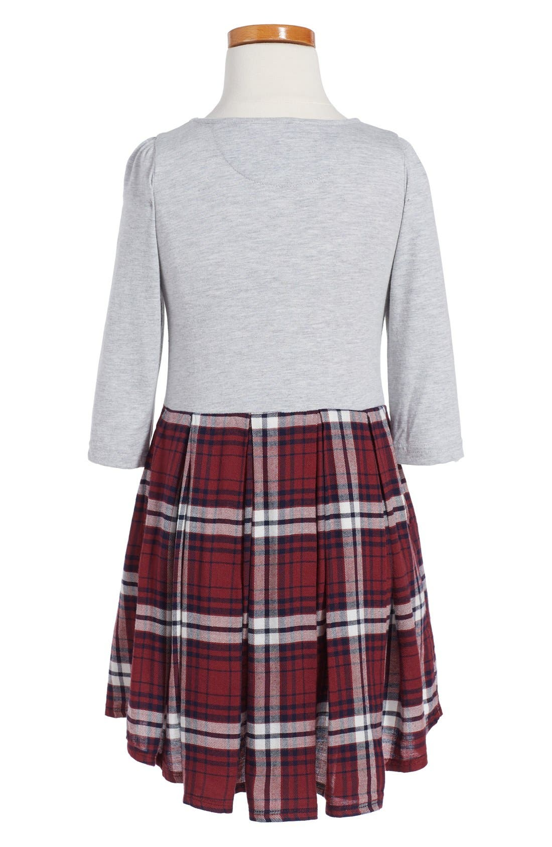,                             Pleated Knit Dress,                             Alternate thumbnail 3, color,                             050