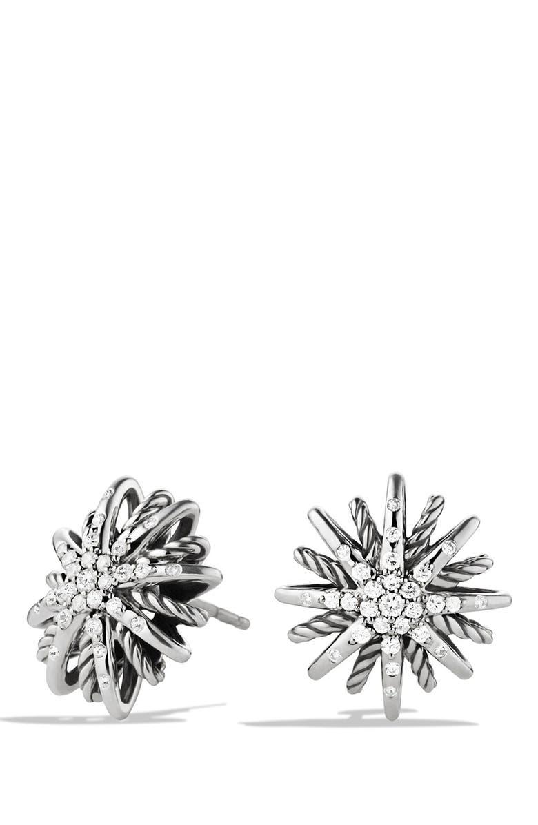 DAVID YURMAN 'Starburst' Small Earrings with Diamonds, Main, color, DIAMOND