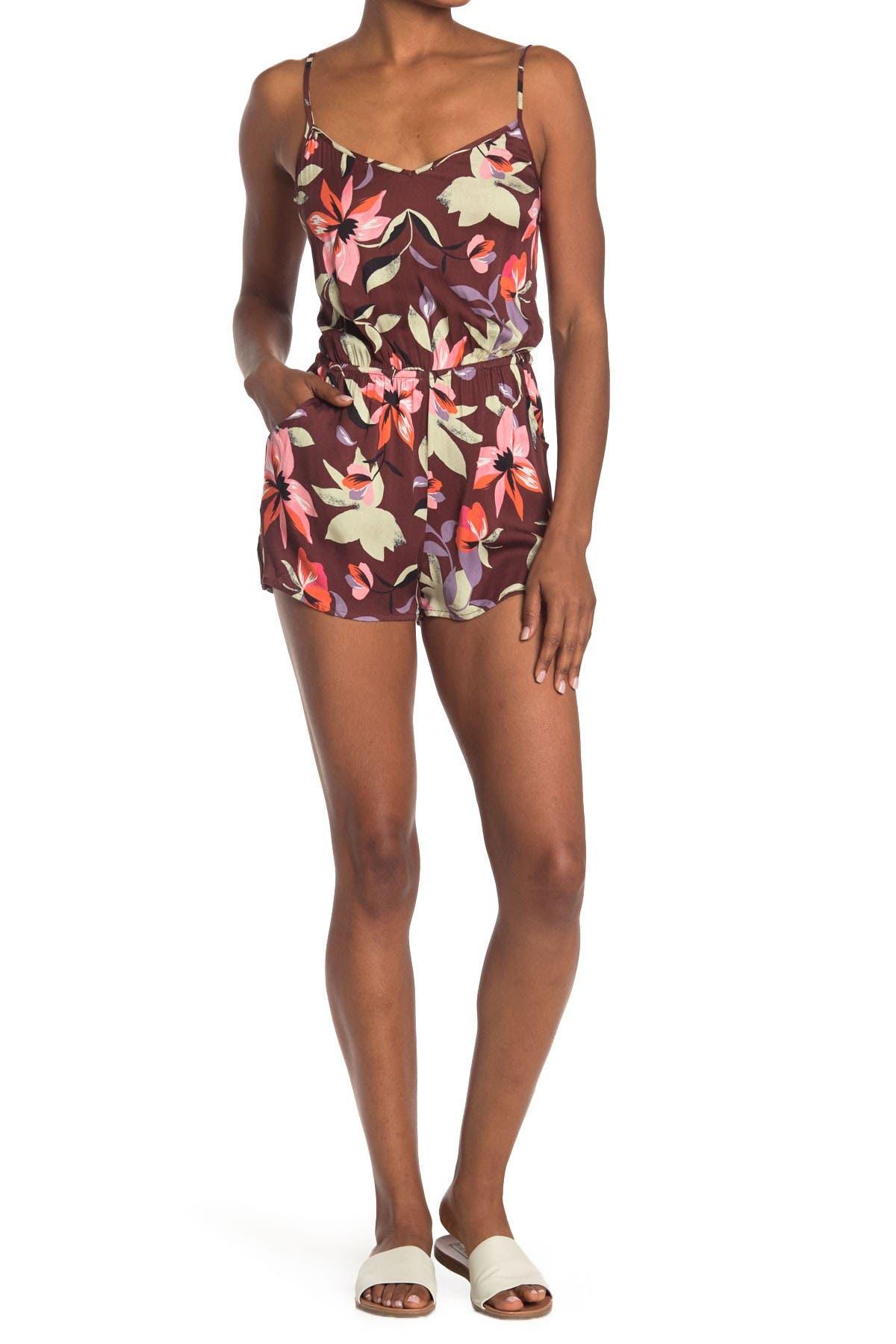 Image of The Bikini Lab Hot Tropics Floral Romper
